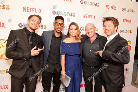 Johnny Simmons, Alphonso McAuley, Creator Kay Cannon, Dean Norris and Christian Ditter seen at Netflix 'Girlboss' Premiere at ArcLight Hollywood on Monday, April 17th, 2017, in Los Angeles, CA