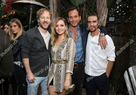 "David Sullivan, Ruth Kearney, Will Arnett and George Basil seen at Netflix ""Flaked"" Season 2 special screening at Cinefamily, in West Hollywood, CA"
