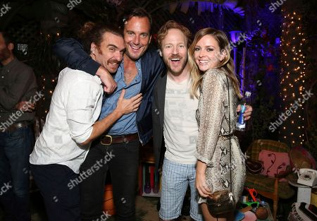 "George Basil, Will Arnett, David Sullivan and Ruth Kearney seen at Netflix ""Flaked"" Season 2 special screening at Cinefamily, in West Hollywood, CA"