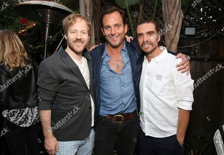 "David Sullivan, Will Arnett and George Basil seen at Netflix ""Flaked"" Season 2 special screening at Cinefamily, in West Hollywood, CA"