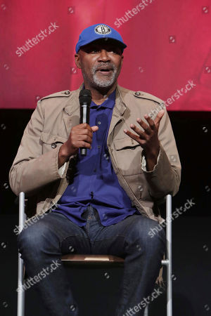 """Nelson George seen at Netflix original series """"The Get Down"""" FYC Panel at the Wolf Theater at Saban Media Center, in Los Angeles, CA"""