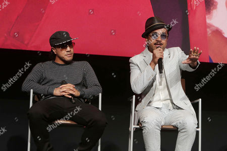 "Rich Talauega and Tone Talauega seen at Netflix original series ""The Get Down"" FYC Panel at the Wolf Theater at Saban Media Center, in Los Angeles, CA"