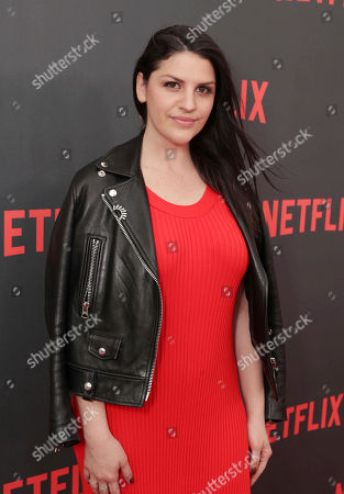 """Jeriana San Juan seen at Netflix original series """"The Get Down"""" FYC Panel at the Wolf Theater at Saban Media Center, in Los Angeles, CA"""