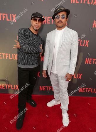 "Stock Image of Rich Talauega and Tone Talauega seen at Netflix original series ""The Get Down"" FYC Panel at the Wolf Theater at Saban Media Center, in Los Angeles, CA"