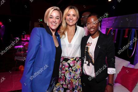 Lauren Morelli, Exec. Producer Tara Herrmann and Samira Wiley seen at Netflix original series 'GLOW' Premiere Party, in Los Angeles, CA