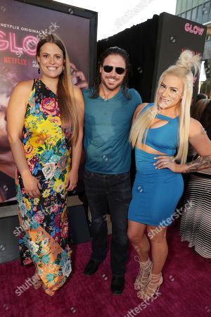 Marianna Palka and John Hennigan seen at Netflix original series 'GLOW' Premiere at the Cinerama Dome, in Los Angeles, CA