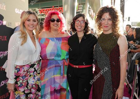 Exec. Producer Tara Herrmann, Exec. Producer Jenji Kohan, Creator/Showrunner/Exec. Producer Carly Mensch and Creator/Showrunner/Exec. Producer Liz Flahive seen at Netflix original series 'GLOW' Premiere at the Cinerama Dome, in Los Angeles, CA