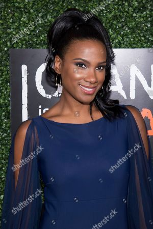 "Vicky Jeudy attends Netflix's ""Orange Is the New Black"" season five premiere event at Catch, in New York"