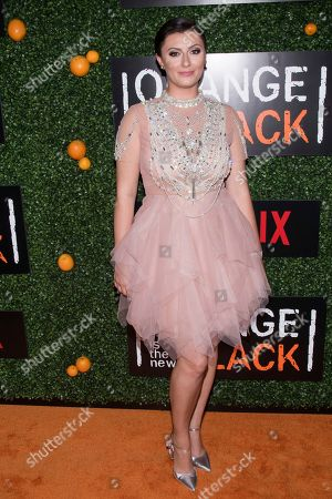 """Francesca Curran attends Netflix's """"Orange Is the New Black"""" season five premiere event at Catch, in New York"""