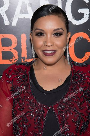 """Miriam Morales attends Netflix's """"Orange Is the New Black"""" season five premiere event at Catch, in New York"""