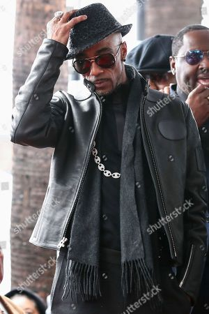 Ralph Tresvant attends a ceremony honoring New Edition with the 2,600th star on the Hollywood Walk of Fame, in Los Angeles