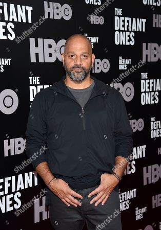 """Director, writer and executive producer Allen Hughes attends the premiere of HBO's """"The Defiant Ones"""" at the Time Warner Center, in New York"""