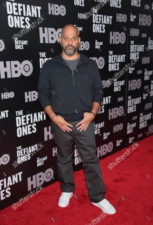 """Producer Allen Hughes attends the premiere of HBO's """"The Defiant Ones"""" at the Time Warner Center, in New York"""