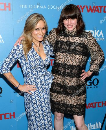 "Laura-Frerer Schmidt, left, and Amy Keller Laird attend a ""Baywatch"" screening, hosted by The Cinema Society and Hugo by Hugo Boss, at Landmark Sunshine Cinema, in New York"