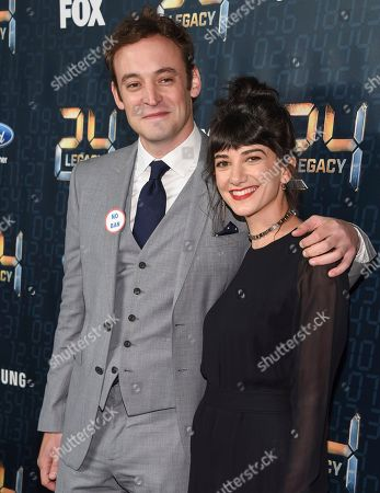 "Actors Charlie Hofheimer, left, and Sheila Vand attend the season premiere of ""24: Legacy"" at Spring Studios, in New York"