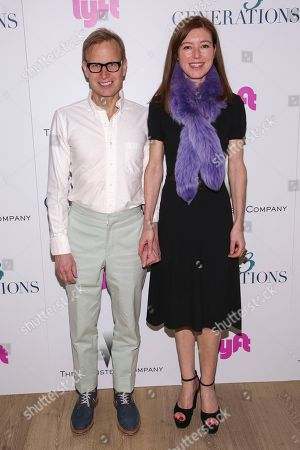 """Artist Will Cotton, left, and Rose Dergan attend a special screening of """"3 Generations"""", hosted by The Weinstein Company with The Cinema Society, at The Whitby Hotel, in New York"""