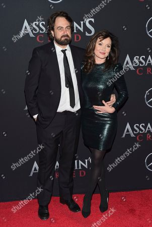 "Director Justin Kurzel and wife Essie Davis attend a special screening of ""Assassin's Creed"" at AMC Empire 25, in New York"