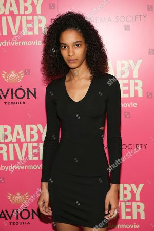"""Stock Photo of Luisana Gonzalez attends a special screening of """"Baby Driver"""", hosted by TriStar Pictures and The Cinema Society, at Metrograph, in New York"""