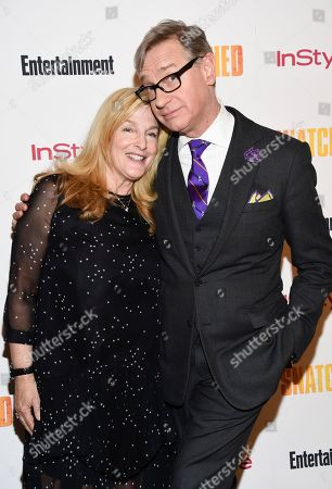 """Producer Paul Feig and wife Laurie Karon attend a special screening of """"Snatched"""" at The Whitby Hotel, in New York"""