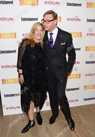 """Stock Image of Producer Paul Feig and wife Laurie Karon attend a special screening of """"Snatched"""" at The Whitby Hotel, in New York"""