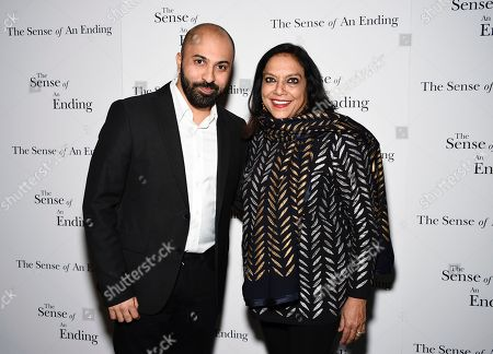 """Directors Ritesh Batra, left, and Mira Nair attend a special screening of """"The Sense of an Ending"""" at the Museum of Modern Art, in New York"""