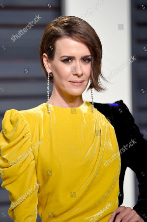 Actress Sarah Paulson arrives at the Vanity Fair Oscar Party in Beverly Hills, Calif. Fresh off her SAG, Golden Globe and Emmy Award wins for playing Marcia Clark in â?oeAmerican Crime Story,â?? Paulson is celebrating the woman who put together all those red carpet looks: Karla Welch, whom the Hollywood Reporter just named the industryâ?™s most powerful stylist. Though Paulson prefers leisurewear, she loves the ritual of getting ready for the red carpet. Having a spectacular dress to wear helps her achieve the right mindset for a million flashbulbs and screaming fans