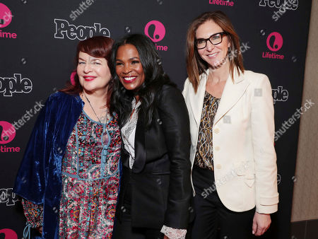 "Director Allison Anders, Nia Long and Exec. Producer Alison Greenspan seen at premiere screening of Lifetime Television ""Beaches"" at Regal LA Live Stadium 14 on in Los Angeles, Calif"
