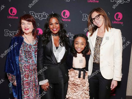 "Director Allison Anders, Nia Long, Sanai Victoria and Exec. Producer Alison Greenspan seen at premiere screening of Lifetime Television ""Beaches"" at Regal LA Live Stadium 14 on in Los Angeles, Calif"