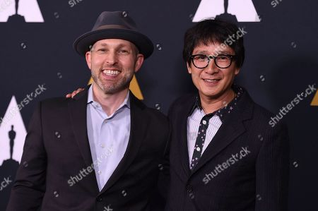 Stock Picture of Jeff Cohen and Ke Huy Quan arrive at the Richard Donner Tribute on in Beverly Hills, Calif