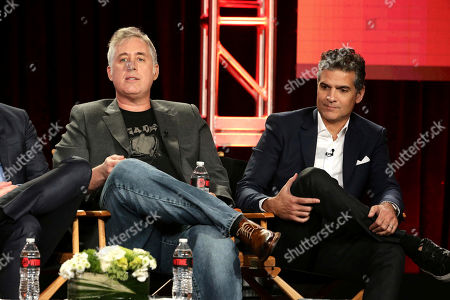"Executive Producers Brian Koppelman and David Levien speak at ""Billions"" panel at Showtime 2017 Winter TCA at The Langham Huntington Hotel, in Pasadena, Calif"