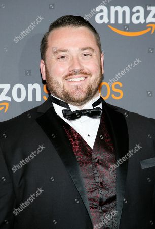 Joe P. Harris arrives at the Amazon Studios Golden Globes afterparty at the Beverly Hilton Hotel, in Beverly Hills, Calif