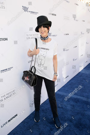 Diane Warren walks the carpet at The Humane Society of the United States' To The Rescue! Los Angeles Benefit at Paramount Studios, in Los Angeles. The event benefits The HSUS' Farm Animal Protection campaign and honors Sen. Cory Booker, D-NJ, and Christina Grimmie (posthumously) with performances by Noah Cyrus, Pharrell and Rachel Platten