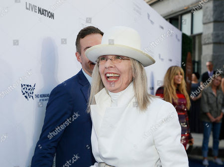 Diane Keaton walks the carpet at The Humane Society of the United States' To The Rescue! Los Angeles Benefit at Paramount Studios, in Los Angeles. The event benefits The HSUS' Farm Animal Protection campaign and honors Sen. Cory Booker, D-NJ, and Christina Grimmie (posthumously) with performances by Noah Cyrus, Pharrell and Rachel Platten