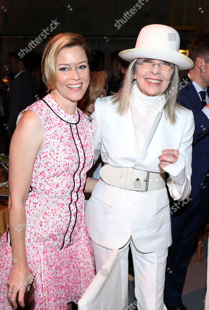 Elizabeth Banks, left, and Diane Keaton attend The Humane Society of the United States' To The Rescue! Los Angeles Benefit at Paramount Studios, in Los Angeles. The event benefits The HSUS' Farm Animal Protection campaign and honors Sen. Cory Booker, D-NJ, and Christina Grimmie (posthumously) with performances by Noah Cyrus, Pharrell and Rachel Platten