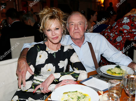 Melanie Griffith, left, and James Caan attend The Humane Society of the United States' To The Rescue! Los Angeles Benefit at Paramount Studios, in Los Angeles. The event benefits The HSUS' Farm Animal Protection campaign and honors Sen. Cory Booker, D-NJ, and Christina Grimmie (posthumously) with performances by Noah Cyrus, Pharrell and Rachel Platten