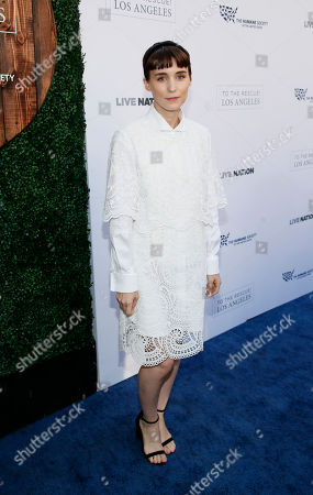 Rooney Mara walks the carpet at The Humane Society of the United States' To The Rescue! Los Angeles Benefit at Paramount Studios, in Los Angeles. The event benefits The HSUS' Farm Animal Protection campaign and honors Sen. Cory Booker, D-NJ, and Christina Grimmie (posthumously) with performances by Noah Cyrus, Pharrell and Rachel Platten