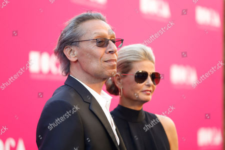 Musician Alex Van Halen and wife Stine Van Halen pose at The Museum Of Contemporary Art 2017 Annual Gala at The Geffen Contemporary at MOCA, in Los Angeles, Calif