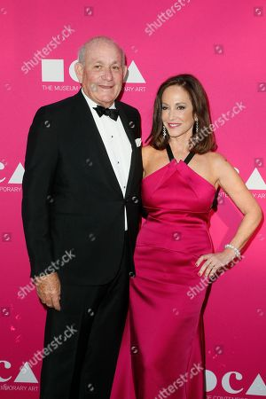 Bruce Karatz, left and MOCA Gala Chair Lilly Tartikoff pose at The Museum of Contemporary Art 2017 Annual Gala at The Geffen Contemporary at MOCA, in Los Angeles