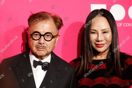 Michael Chow, left, and Eva Chow pose at The Museum Of Contemporary Art 2017 Annual Gala at The Geffen Contemporary at MOCA, in Los Angeles, Calif