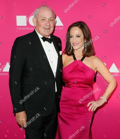 Bruce Karatz, left and MOCA Gala chair Lilly Tartikoff pose at The Museum Of Contemporary Art 2017 Annual Gala at The Geffen Contemporary at MOCA, in Los Angeles, Calif
