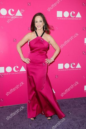 Stock Image of MOCA Gala chair Lilly Tartikoff poses at The Museum Of Contemporary Art 2017 Annual Gala at The Geffen Contemporary at MOCA, in Los Angeles, Calif