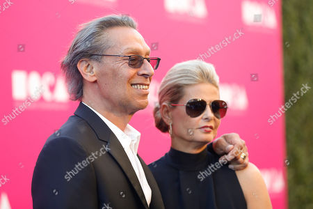 Stock Photo of Musician Alex Van Halen and wife Stine Van Halen pose at The Museum of Contemporary Art 2017 Annual Gala at The Geffen Contemporary at MOCA, in Los Angeles