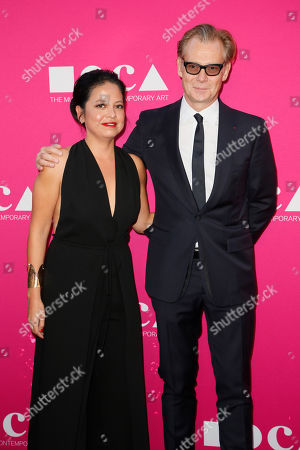 MOCA Director Philippe Vergne and Sylvia Chivaratanond pose at The Museum Of Contemporary Art 2017 Annual Gala at The Geffen Contemporary at MOCA, in Los Angeles, Calif