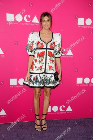 Stock Picture of Nathalie Marciano poses at The Museum Of Contemporary Art 2017 Annual Gala at The Geffen Contemporary at MOCA, in Los Angeles, Calif