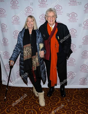 Nena Von Schlubrugge, left, and Bob Thurman attend the Tibet House 30th anniversary gala at Gotham Hall, in New York