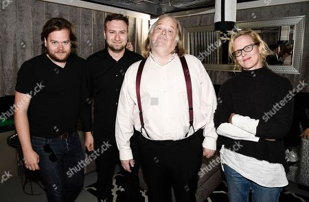 Chef Magnus Nilsson, left, director David Gelb, Los Angeles Times Food Critic Jonathan Gold, and Los Angeles Times Food Editor Amy Scattergood at the Los Angeles Times Food Bowl Chef's Fable at The Wiltern, in Los Angeles