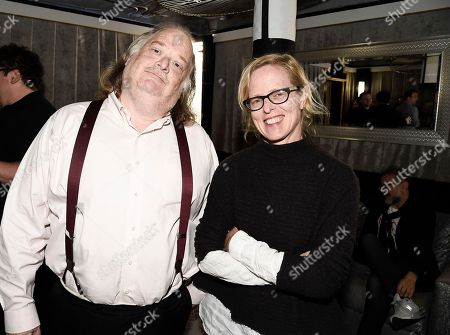 Los Angeles Times Food Editor Amy Scattergood, right, and Los Angeles Times Food Critic Jonathan Gold at the Los Angeles Times Food Bowl Chef's Fable at The Wiltern, in Los Angeles