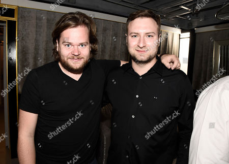 Chef Magnus Nilsson, left, and director David Gelb at the Los Angeles Times Food Bowl Chef's Fable at The Wiltern, in Los Angeles