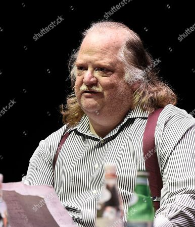 Los Angeles Times food critic Jonathan Gold at the Los Angeles Times Food Bowl Food for Soul at the Ace Hotel Downtown, in Los Angeles