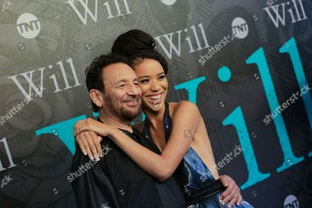 "Stock Picture of Director/Executive Producer Shekhar Kapur, left, and Actress Jasmin Savoy Brown attend TNT's ""Will"" season premiere at Bryant Park, in New York"
